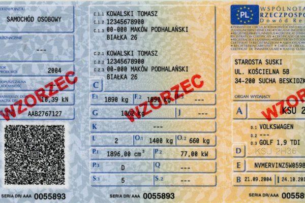 dokumenty potrzebne do rejestracji samochodu