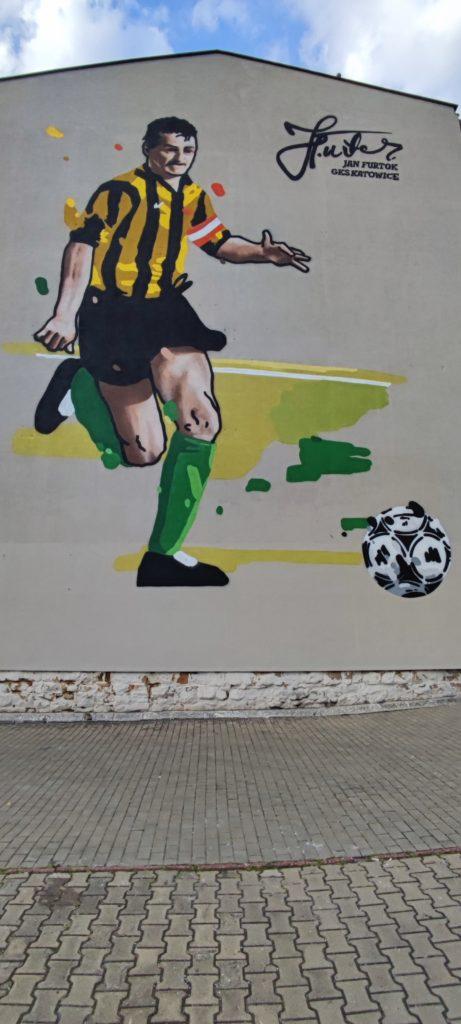 Mural w Katowicach przy ulicy Granicznej