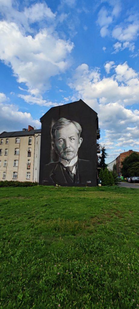 Mural w Katowicach przy ulicy Dudy Gracza