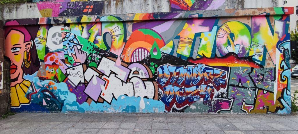 Graffiti okolice ulicy Mariackiej w Katowicach