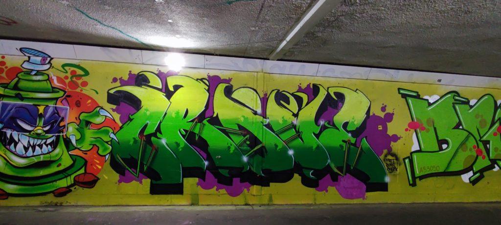 Mural w przejściu podziemnym przy ul Dworcowej i Mariackiej tylnej