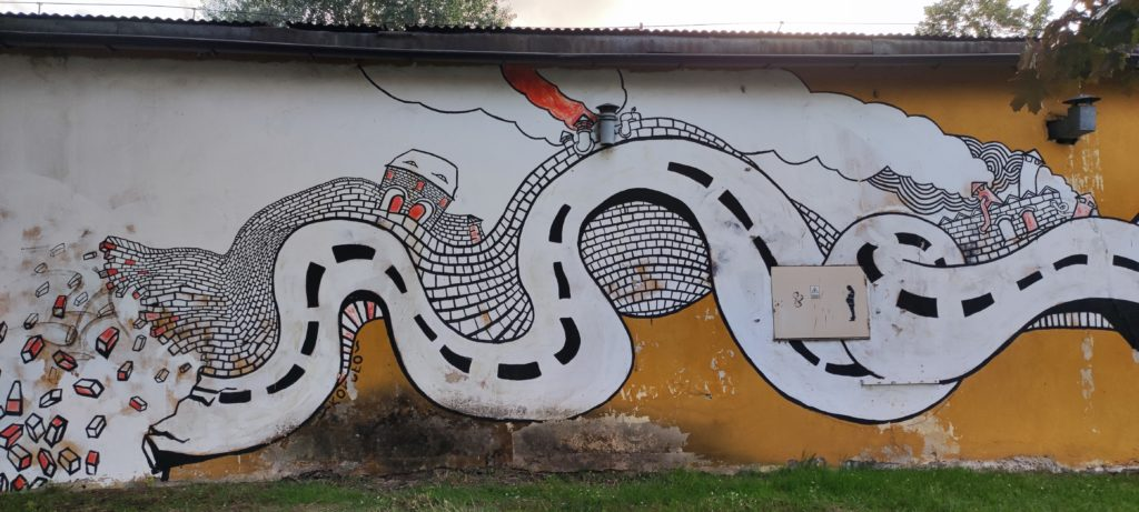 Mural Katowice ul. Goeppert Mayer