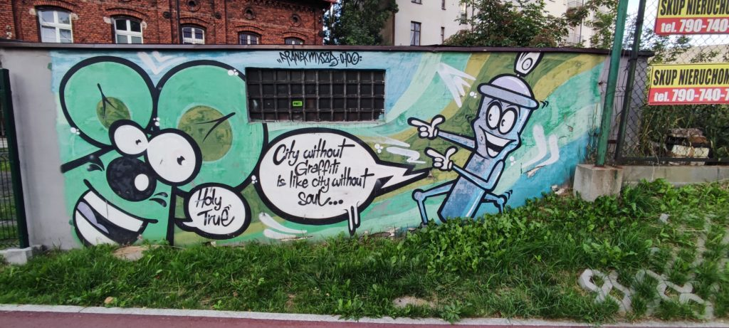 Mural Katowice Skrzyżowanie ulic Gliwickiej i ul. Goeppert Mayer