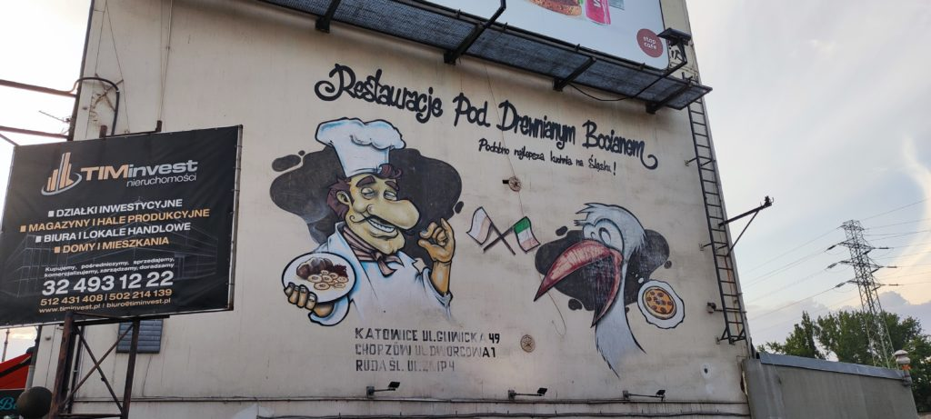 Graffiti przy ul.Gliwickiej