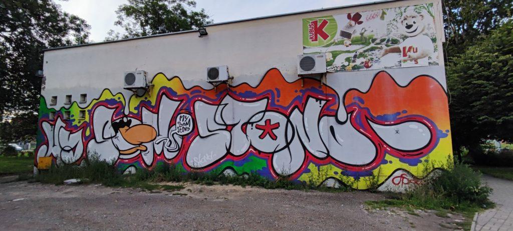 Mural Katowice ul. Gliwicka - Dzielnica Załęże