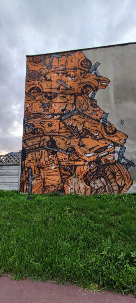 Graffiti w Katowicach przy ul. Grundmana