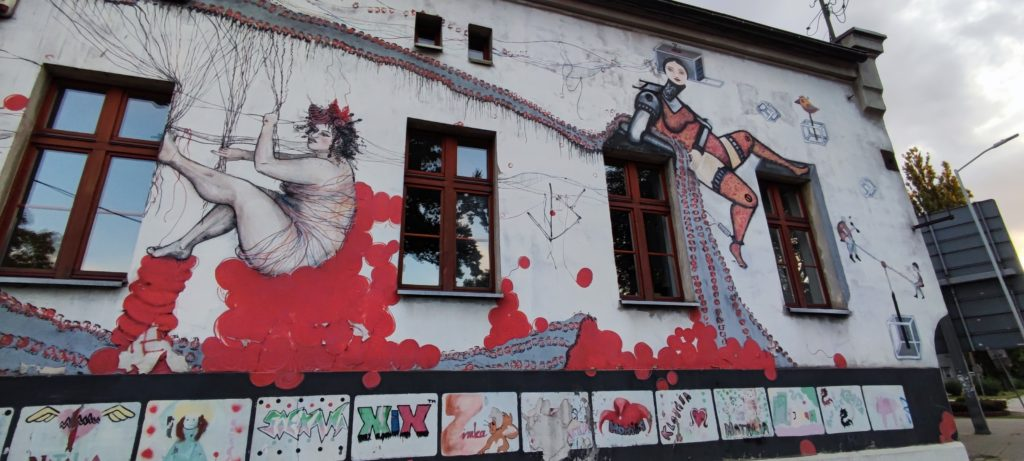 Mural w Katowicach ul.Gliwicka