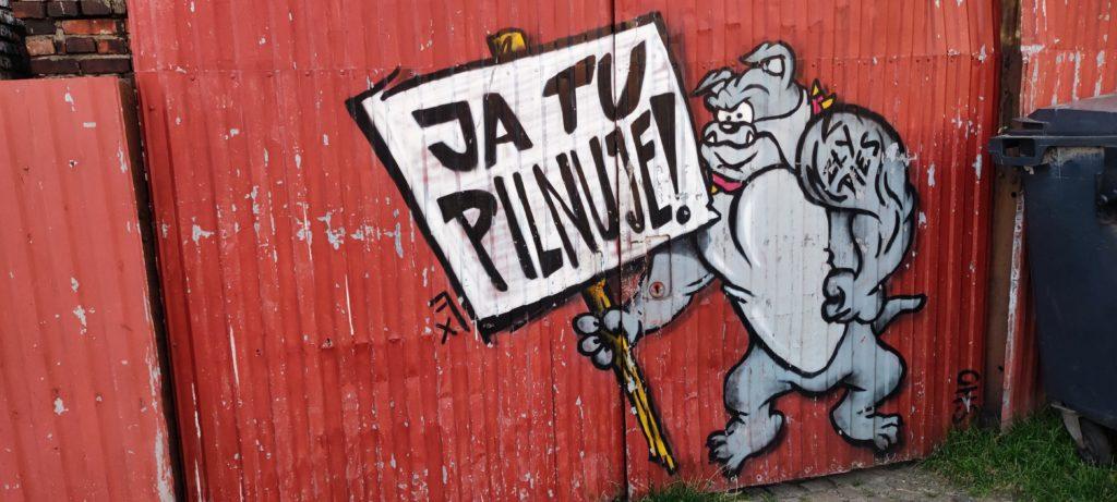 Graffiti w Katowicach przy ul. Stęślickiego