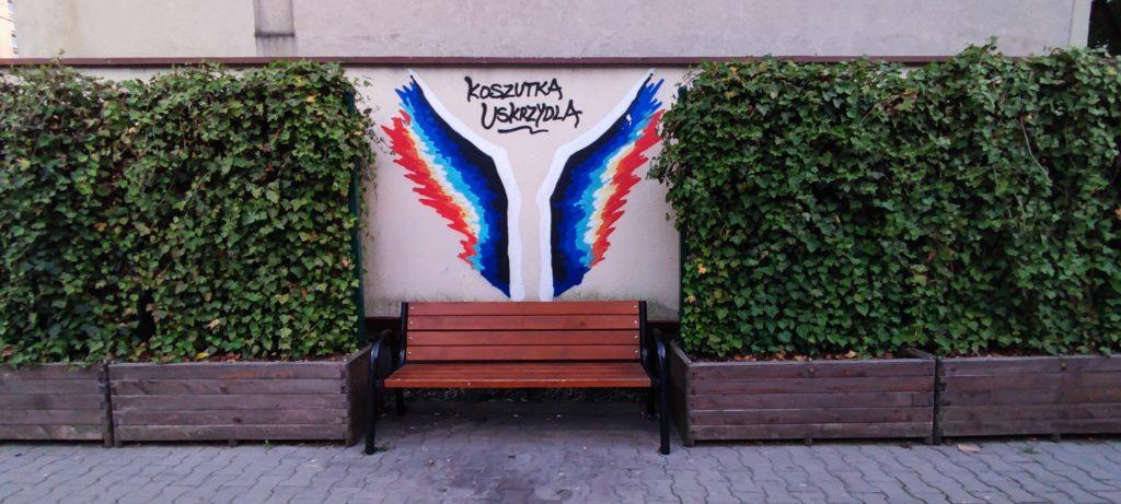 Skrzydła - Graffiiti w Katowcach - Dzielnica Koszutka