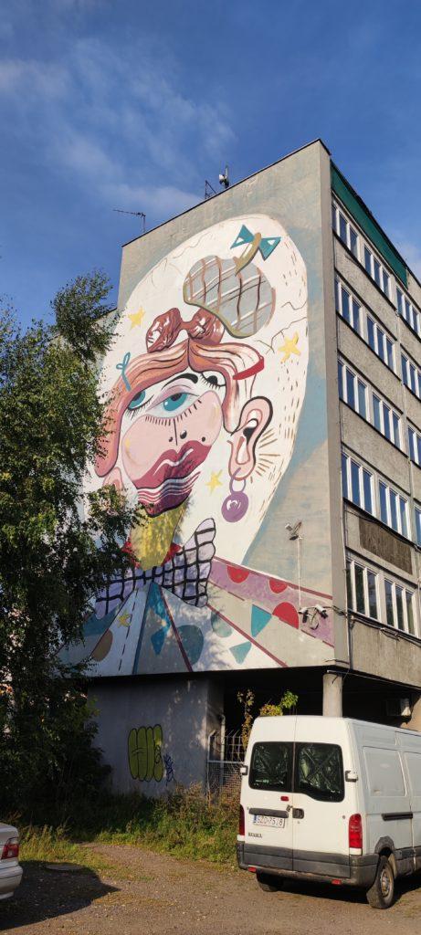 Mural w Katowicach - Zawodzie