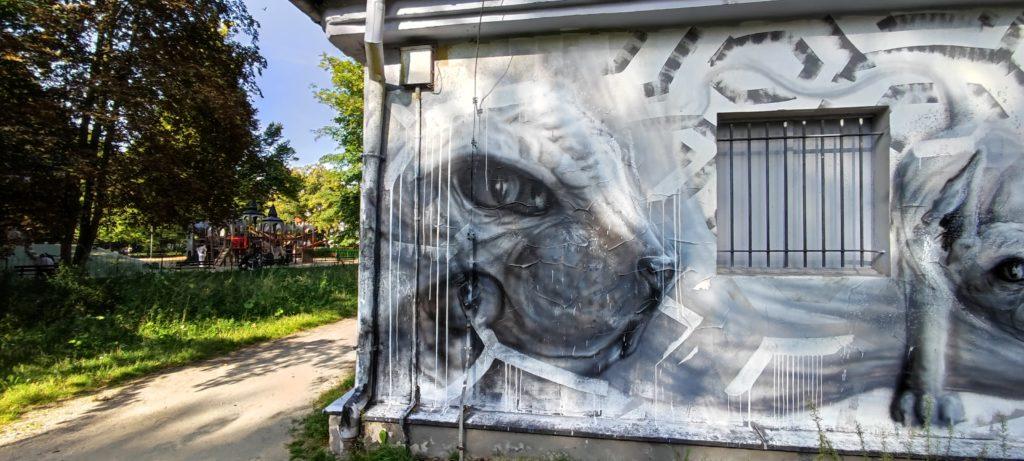 Mural w parku w Sopocie